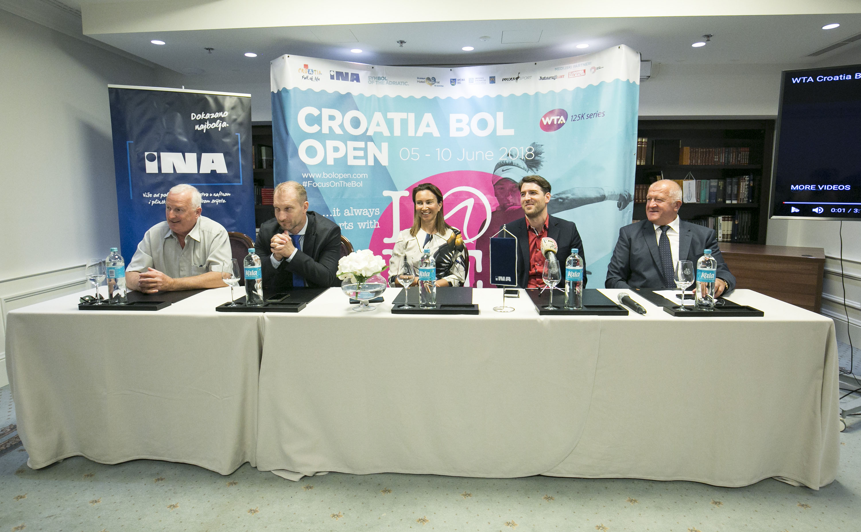 Press conference for WTA Croatia Bol Open
