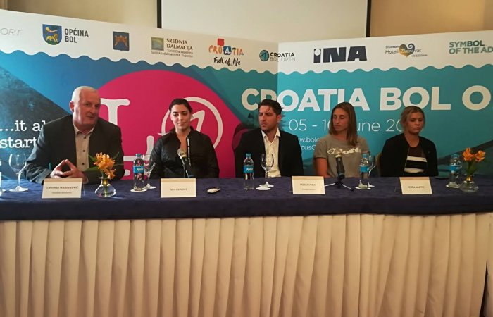 Press conference for the WTA Croatia Bol Open