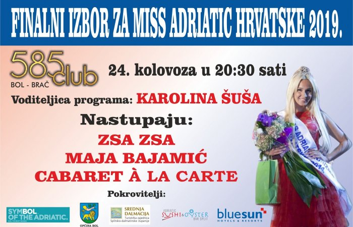 Beauty pageant Miss Adriatic Croatia 2019