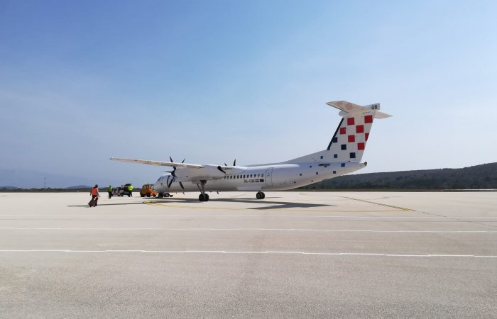 First flight of Croatia Airlines in 2019. to Brač airport
