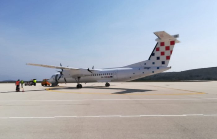 Last flight from Brač airport