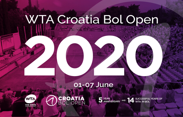 Announcement for WTA Croatia Bol Open 2020