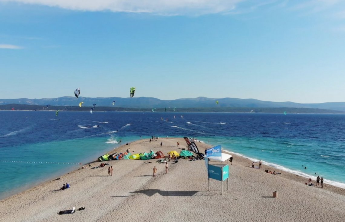 Kite camp on a world's famous beach Zlatni rat attracted hundreds of adrenaline rush sport lovers