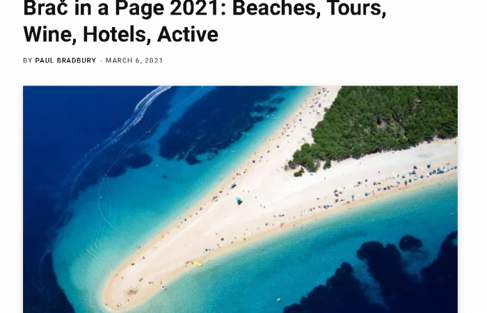 Brač in a Page 2021: Beaches, Tours, Wine, Hotels, Active